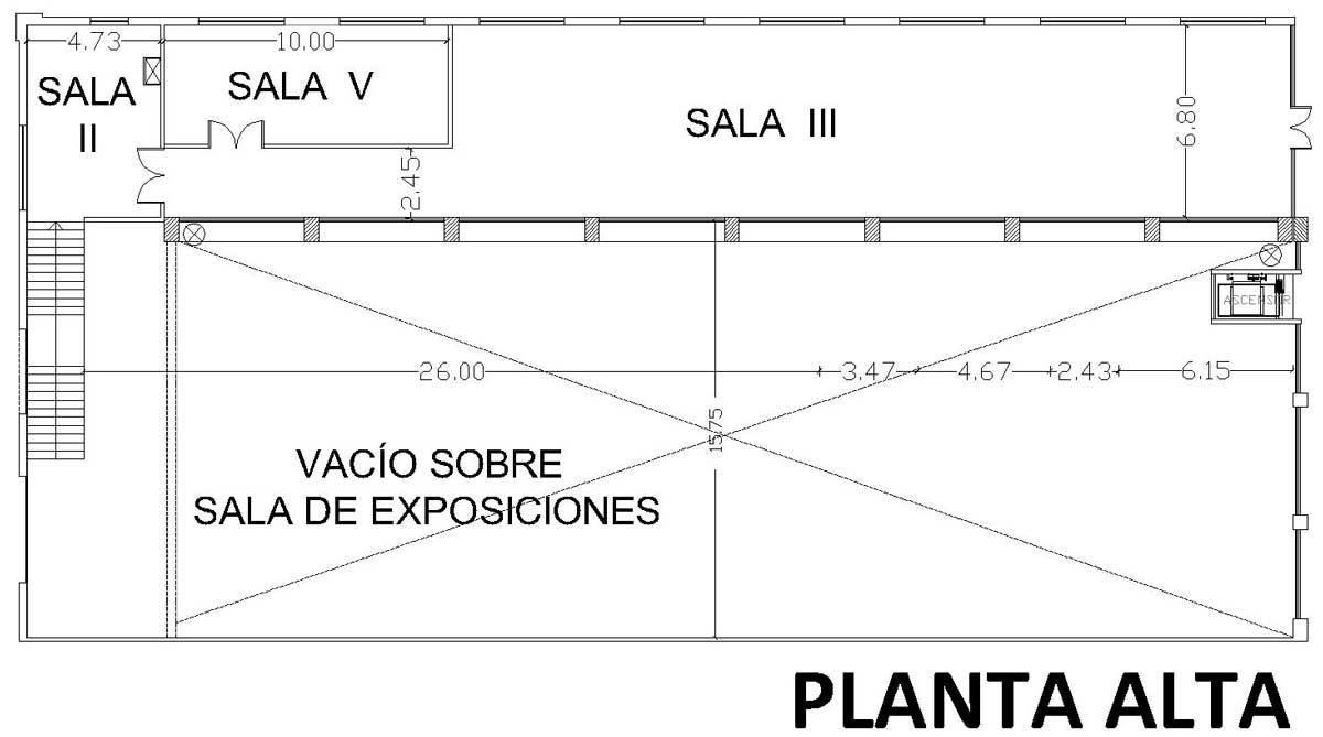 Planos de salas Artes Visuales - CCM Haroldo Conti